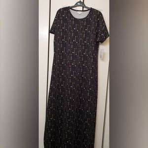 LuLaRoe Maria Maxi Dress With Arrows NWT M